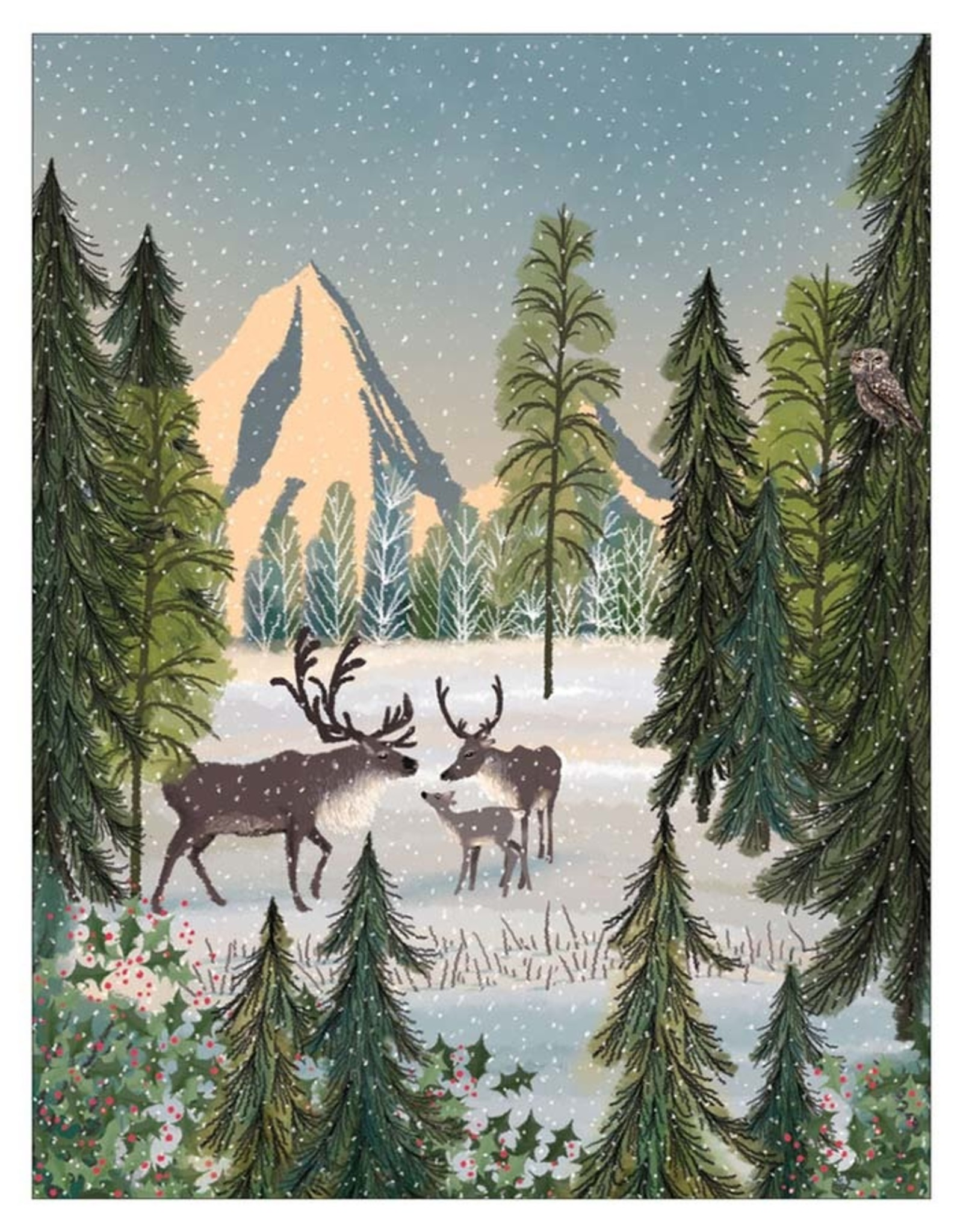 Peaceful Reindeer Boxed Cards