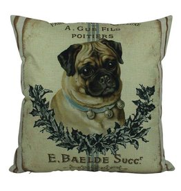 French Pug Pillow
