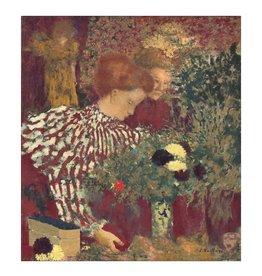 Vuillard Woman in Striped Dress Print