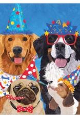 Dog Pawty Birthday Card