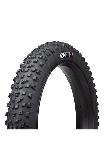 45NRTH Wrathlorde Studded Fat Bike Tire 26 x 4.2, 300 XL Concave Carbide Aluminum Studs,Tubeless, Folding,120tpi, Black
