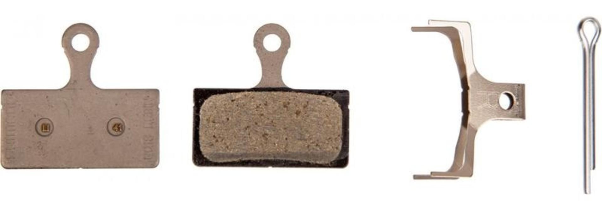 Shimano, Y8KA98010, G01S, BR-M666, Disc brake pads, Without fins, Resin, Pair, G type