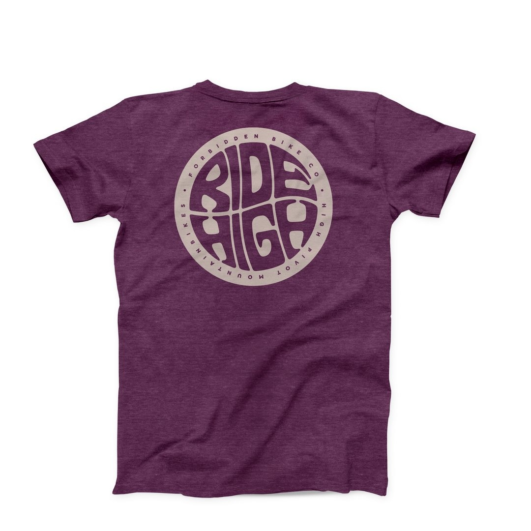 Forbidden Ride High Tee SS Medium - Plum-1