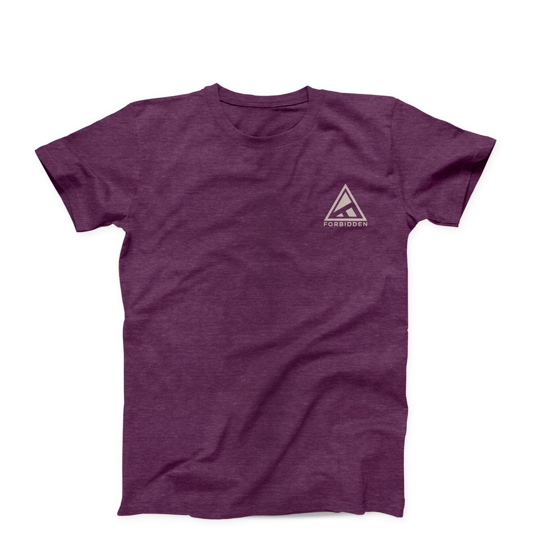 Forbidden Ride High Tee SS Medium - Plum-2