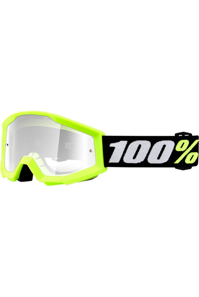 100% Strata Mini Youth Goggles Yellow Clear Lens