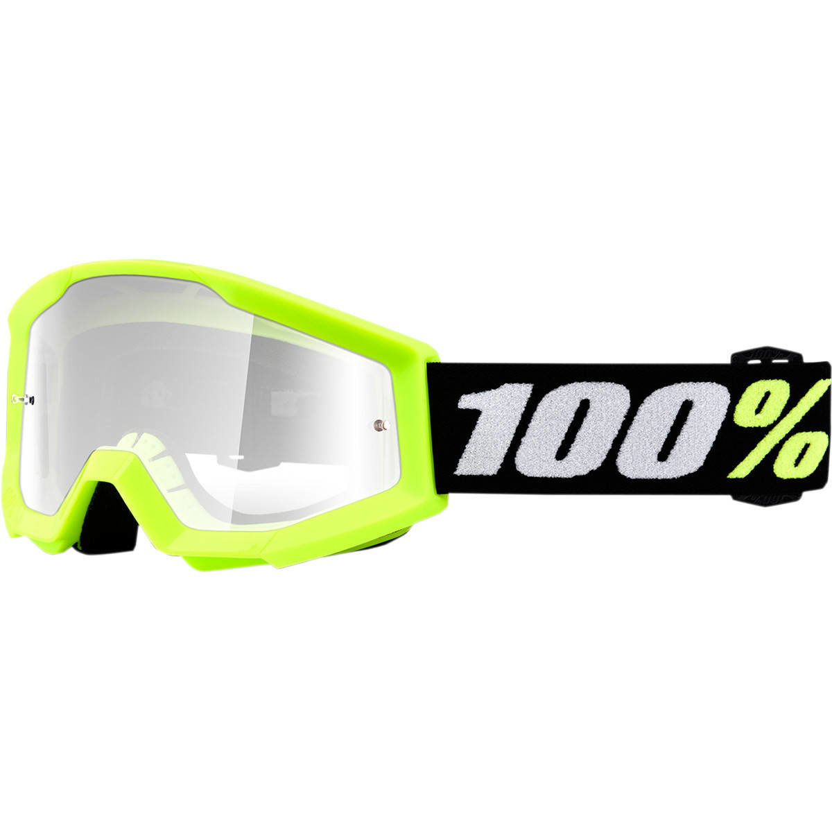 100% Strata Mini Youth Goggles Yellow Clear Lens-1