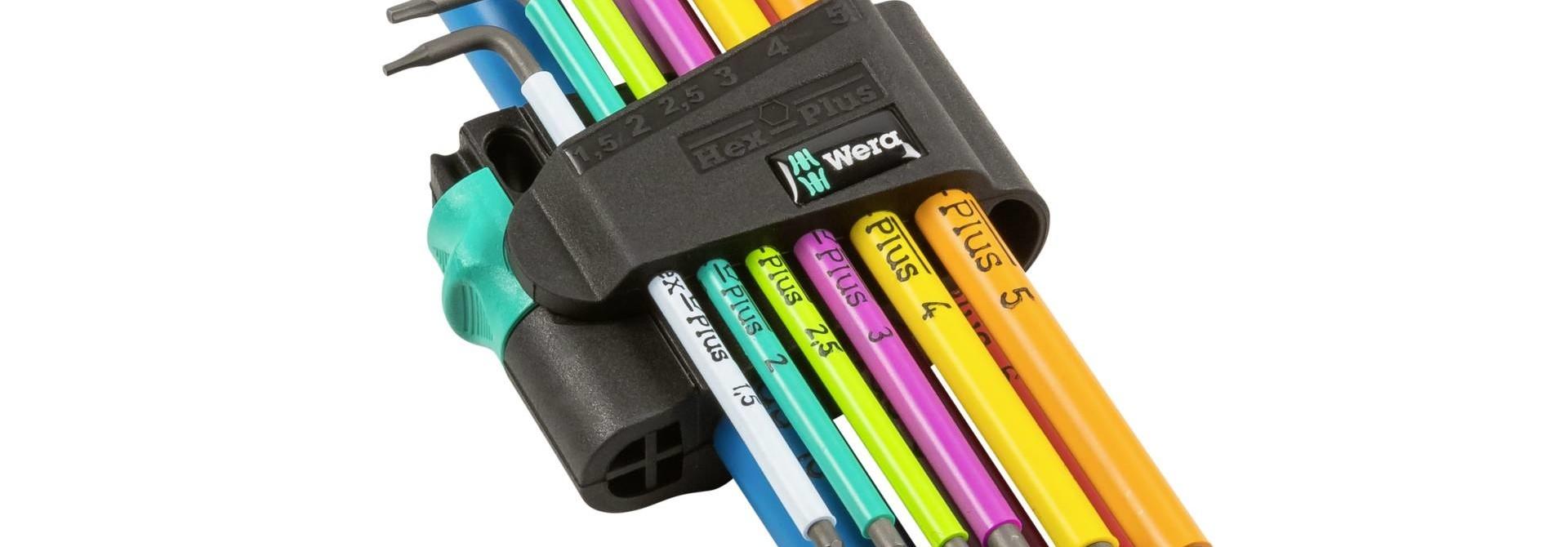 Wera Tools Hex Plus Multicolour Long Arm L-Key Set, Metric, 9 Pieces