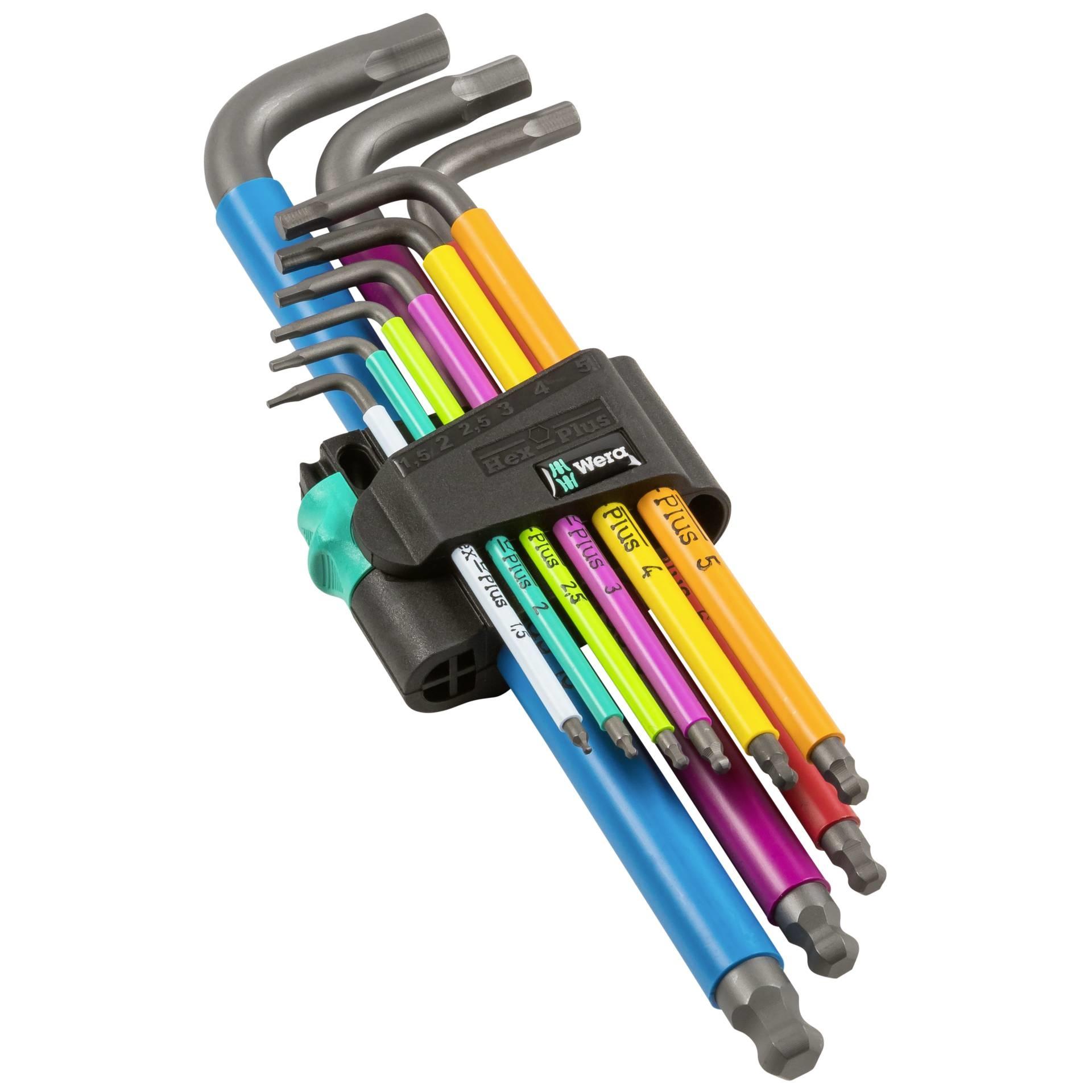 Wera Tools Hex Plus Multicolour Long Arm L-Key Set, Metric, 9 Pieces-1