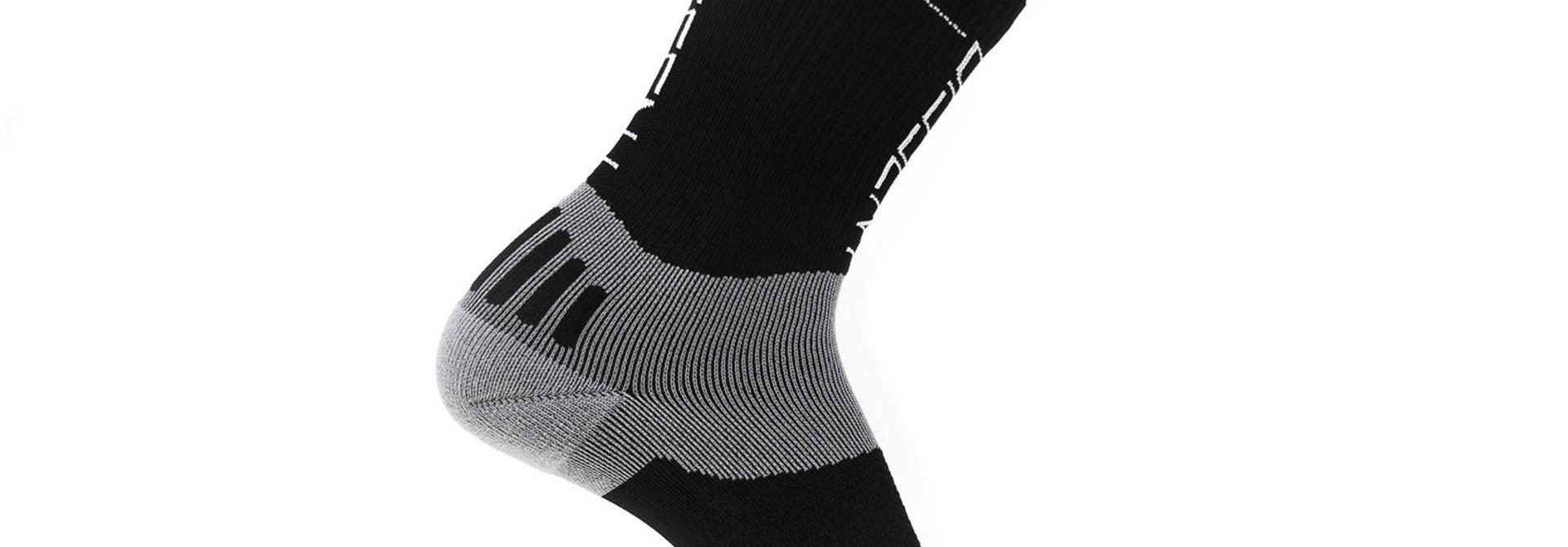 "Dissent, Supercrew Nano 6"", Compression socks, Black"