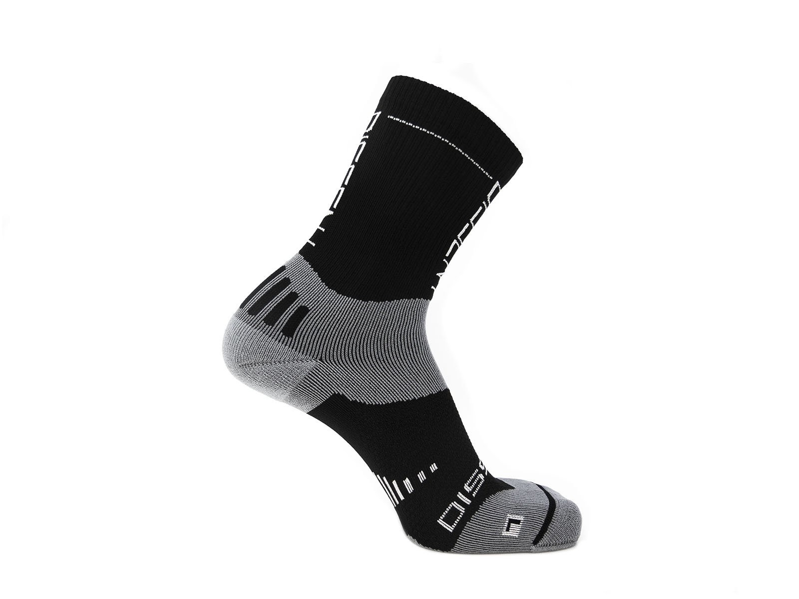 "Dissent, Supercrew Nano 6"", Compression socks, Black-1"