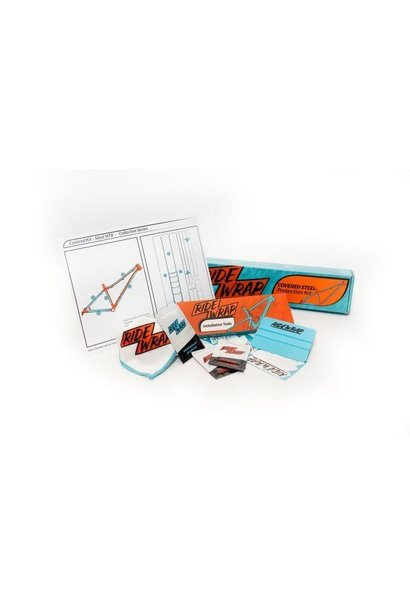 Ridewrap Covered Frame Protection Kit, Collective Series, Steel MTB, Clear Gloss Finish