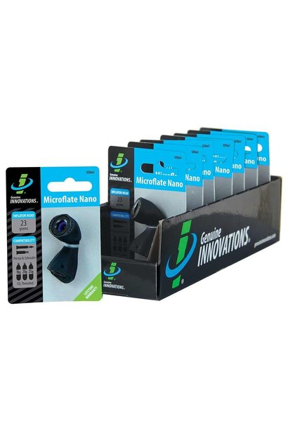 Genuine Innovations, Microflate Nano, CO2 Inflator, No cartridge, Black
