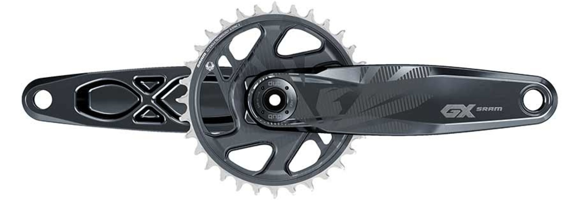 SRAM, GX Eagle DUB C1, Crankset, Speed: 11/12, Spindle: 28.99mm, BCD: Direct Mount, 32, DUB, 170mm, Black, SuperBoost+