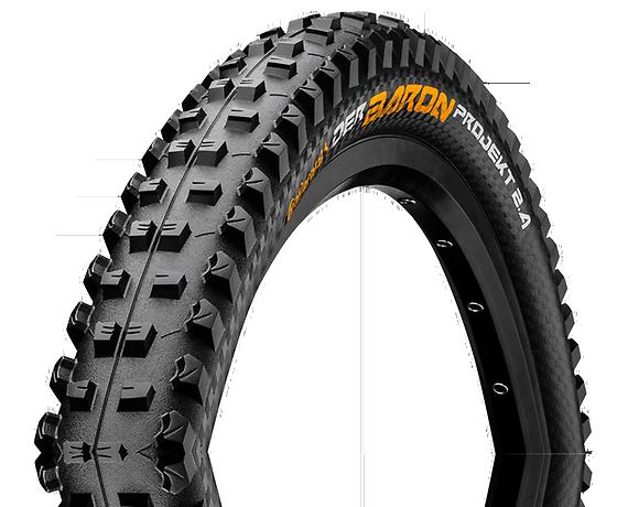 """Continental Der Baron Projekt Tire 27.5"""" x 2.60 Fold ProTection APEX TR + Black Chili-1"""
