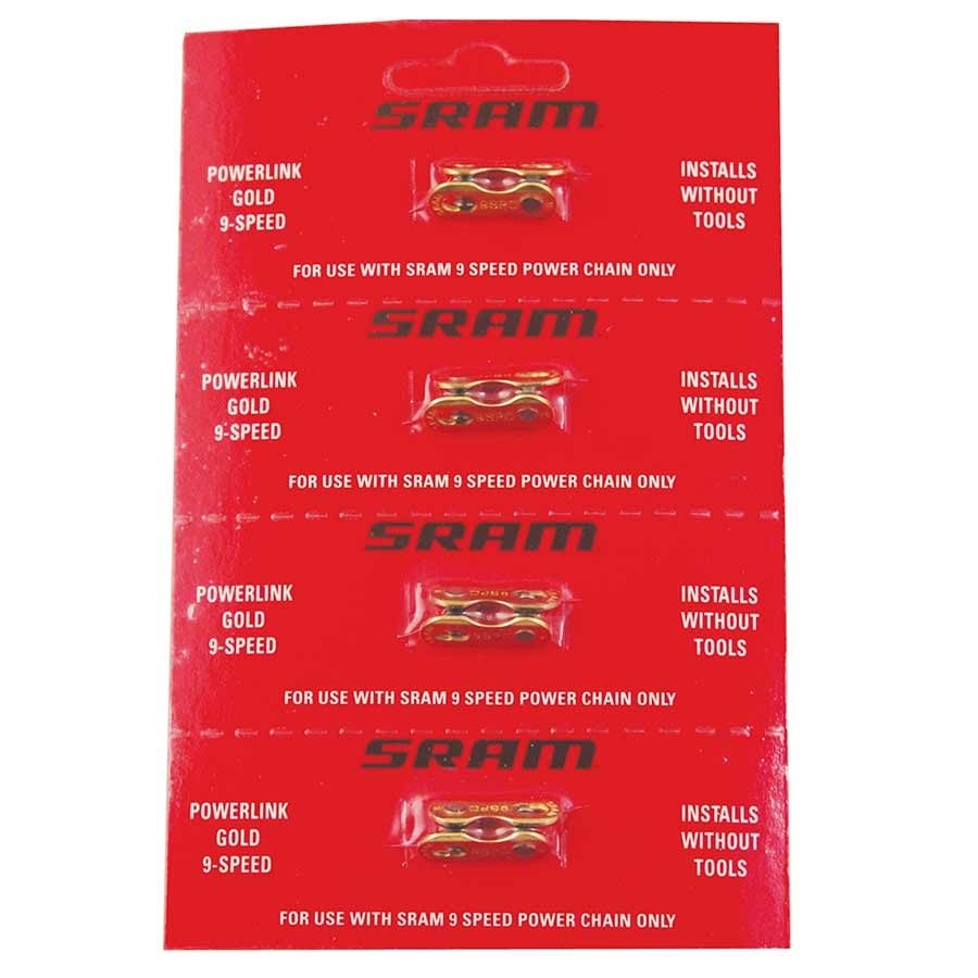 SRAM, Powerlink, 9sp chain connector, Gold-1