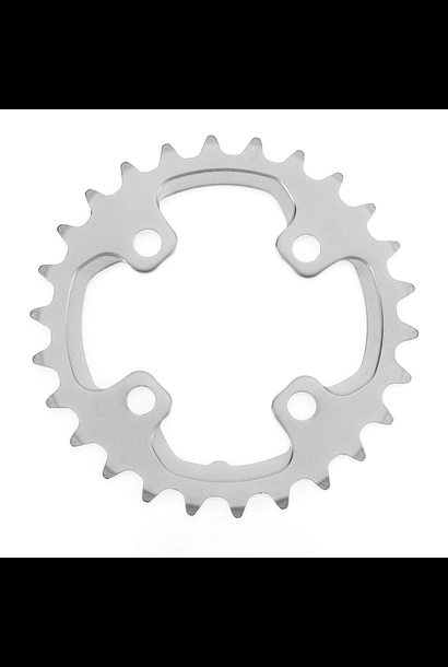 Shimano, Inner Chainring, Y1ML26000, 26T, 10sp, BCD: 64mm, 4 Bolt, XT FC-M785, For Pour 38D, Aluminum, Silver