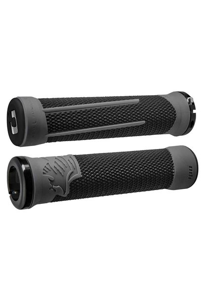 ODI, AG-2 Signature, Grips, 135mm, Black/Graphite/Black, Pair