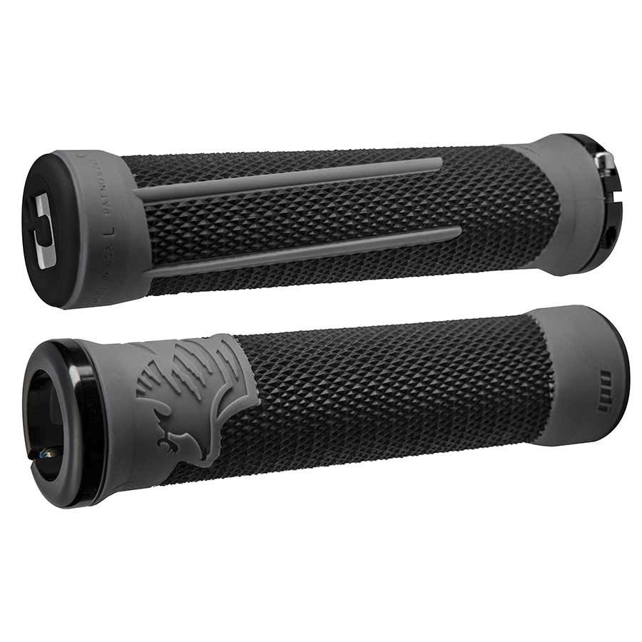ODI, AG-2 Signature, Grips, 135mm, Black/Graphite/Black, Pair-1