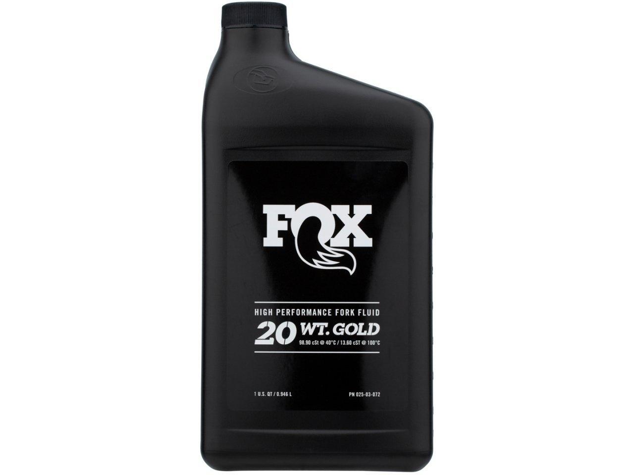 Fox High Performance Fork Fluid - 20 WT. Gold (32 oz)-1