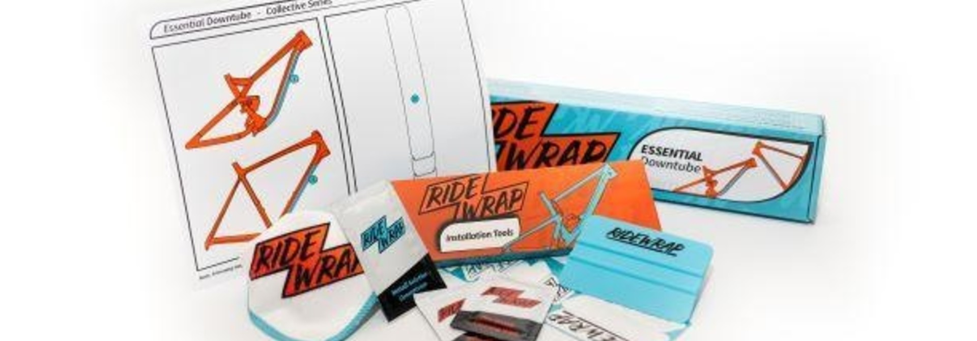 Ridewrap Essential Downtube Protection Kit, Collective Series, Clear Gloss Finish, Xtra Thick