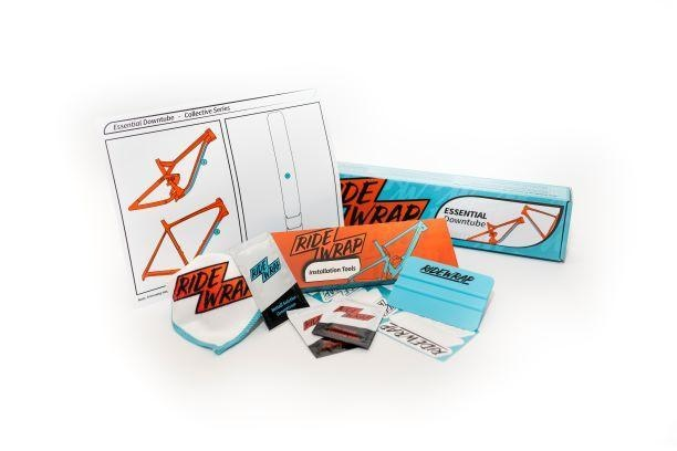 Ridewrap Essential Downtube Protection Kit, Collective Series, Clear Gloss Finish, Xtra Thick-1