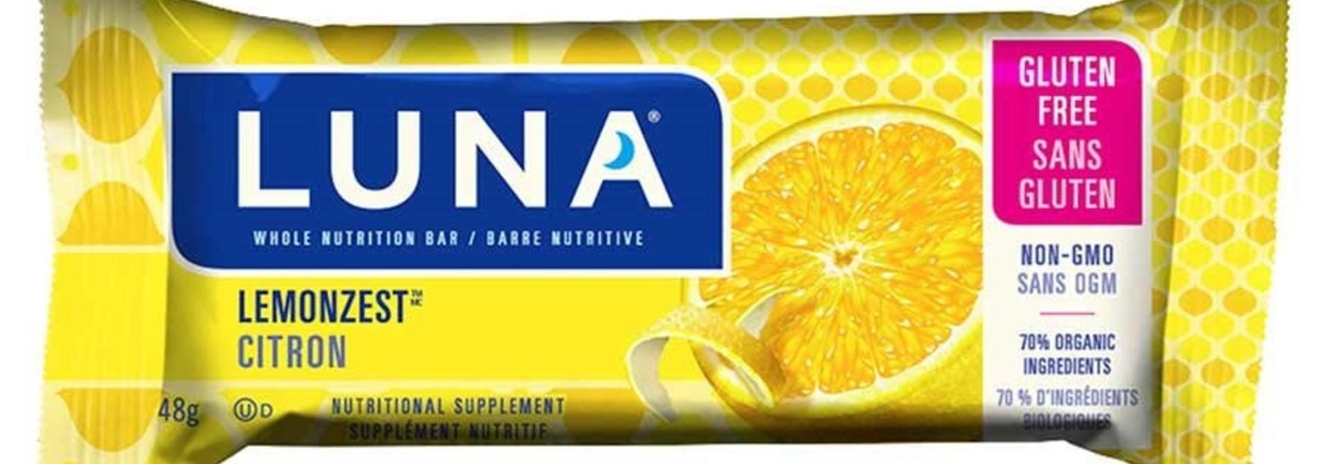 Clif, Luna, Energy bar, Lemon Zest, 15x48g