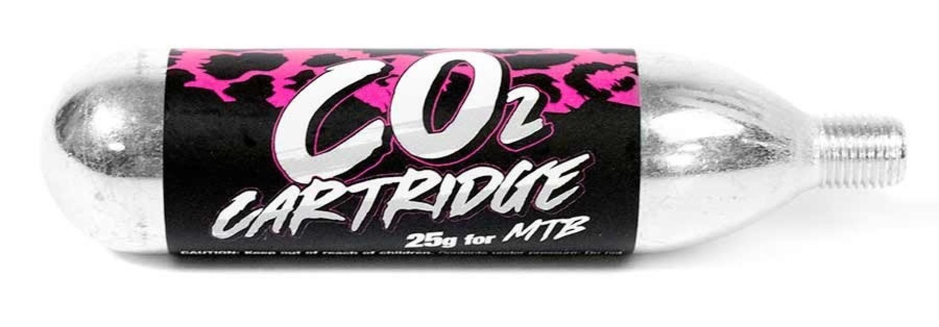 Muc-Off, 25g CO2 Cartridges, Threaded, 25pcs