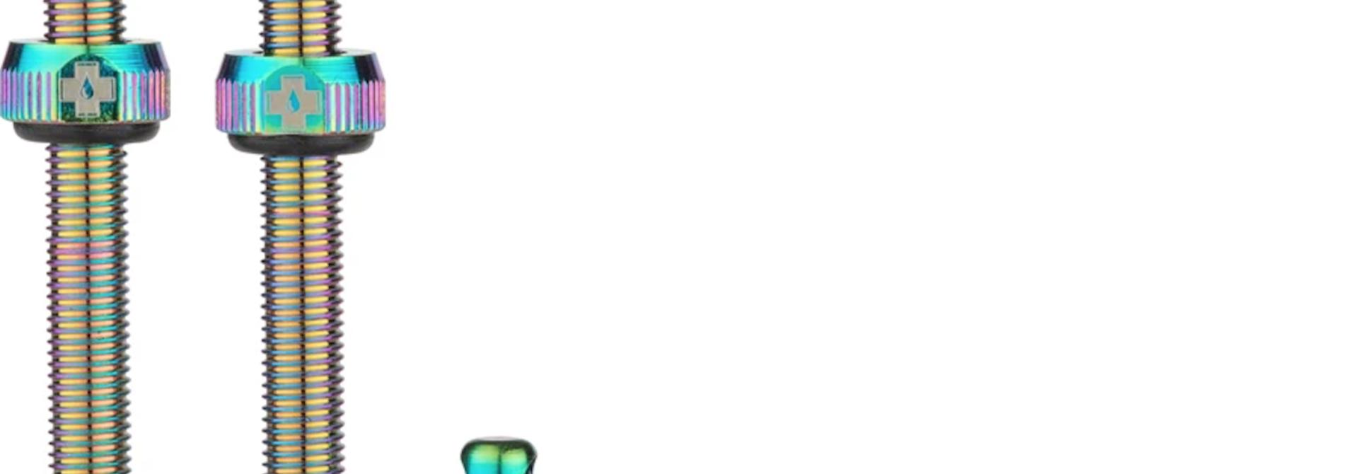 Muc-Off, Tubeless Valve, Presta, 60mm, Iridescent, Pair