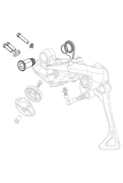 SRAM, XX1, B-Bolt and limit screws kit