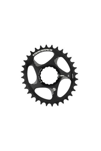RaceFace Cinch Chainring DM Oval NW 10-12s Black