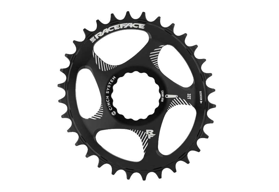 RaceFace Cinch Chainring DM Oval NW 10-12s Black-1