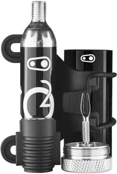 Crank Brothers Cigar Tool  (Plug Kit + CO2 Head) Black & Silver