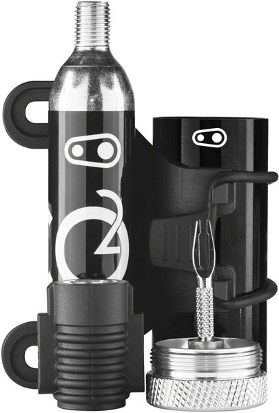 Crank Brothers Cigar Tool  (Plug Kit + CO2 Head) Black & Silver-1