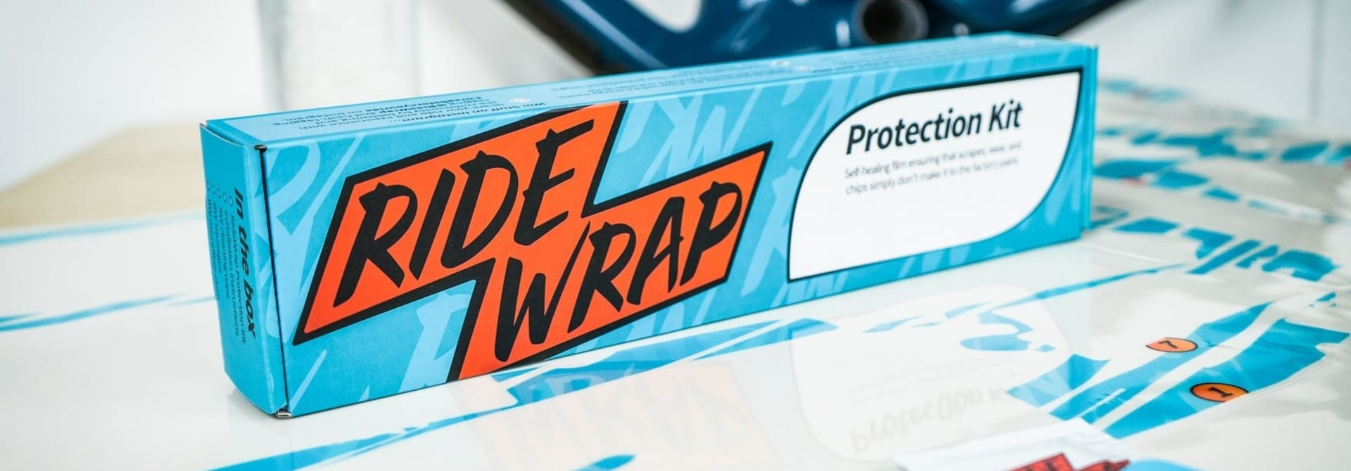 RideWrap Covered Frame Protection Kit, Collective Series, Steel MTB, Clear Matte Finish