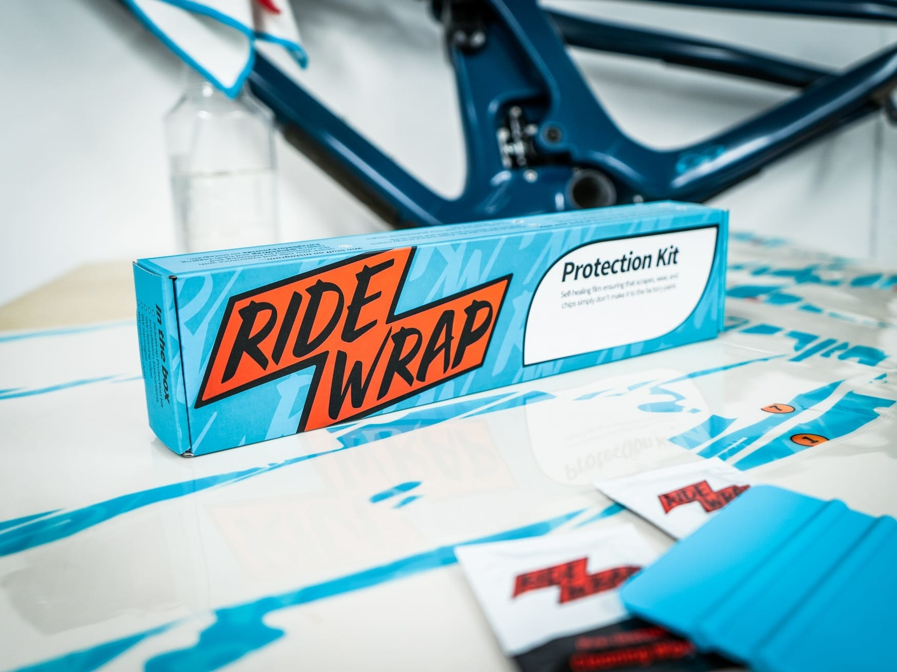 RideWrap Covered Frame Protection Kit, Collective Series, Steel MTB, Clear Matte Finish-1