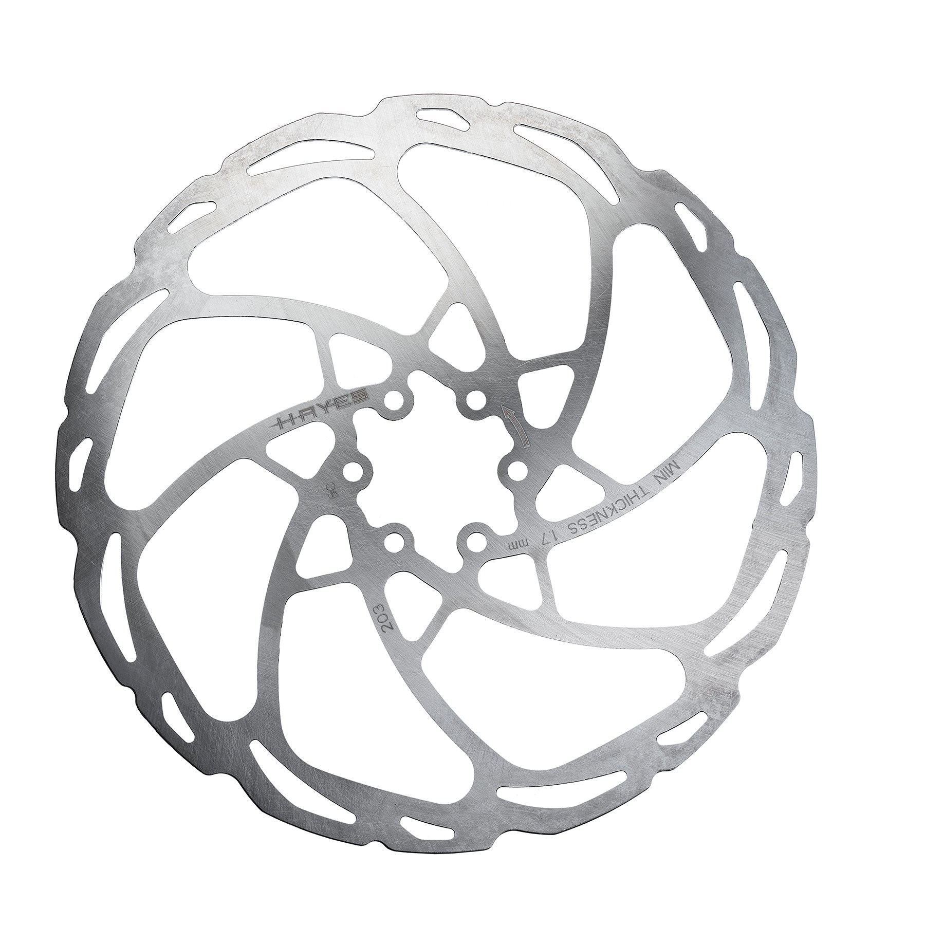 Hayes D-Series Disc Brake Rotor - 203mm, 6-Bolt, Silver-1