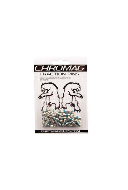 Chromag Short Pedal Pins 40 pcs Pedal Pin Kit for Scarab, Contact & Radar silver