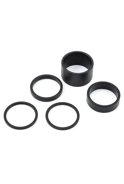 Shimano Pro Headset Spacer Aluminum Black 1-1/8 Set