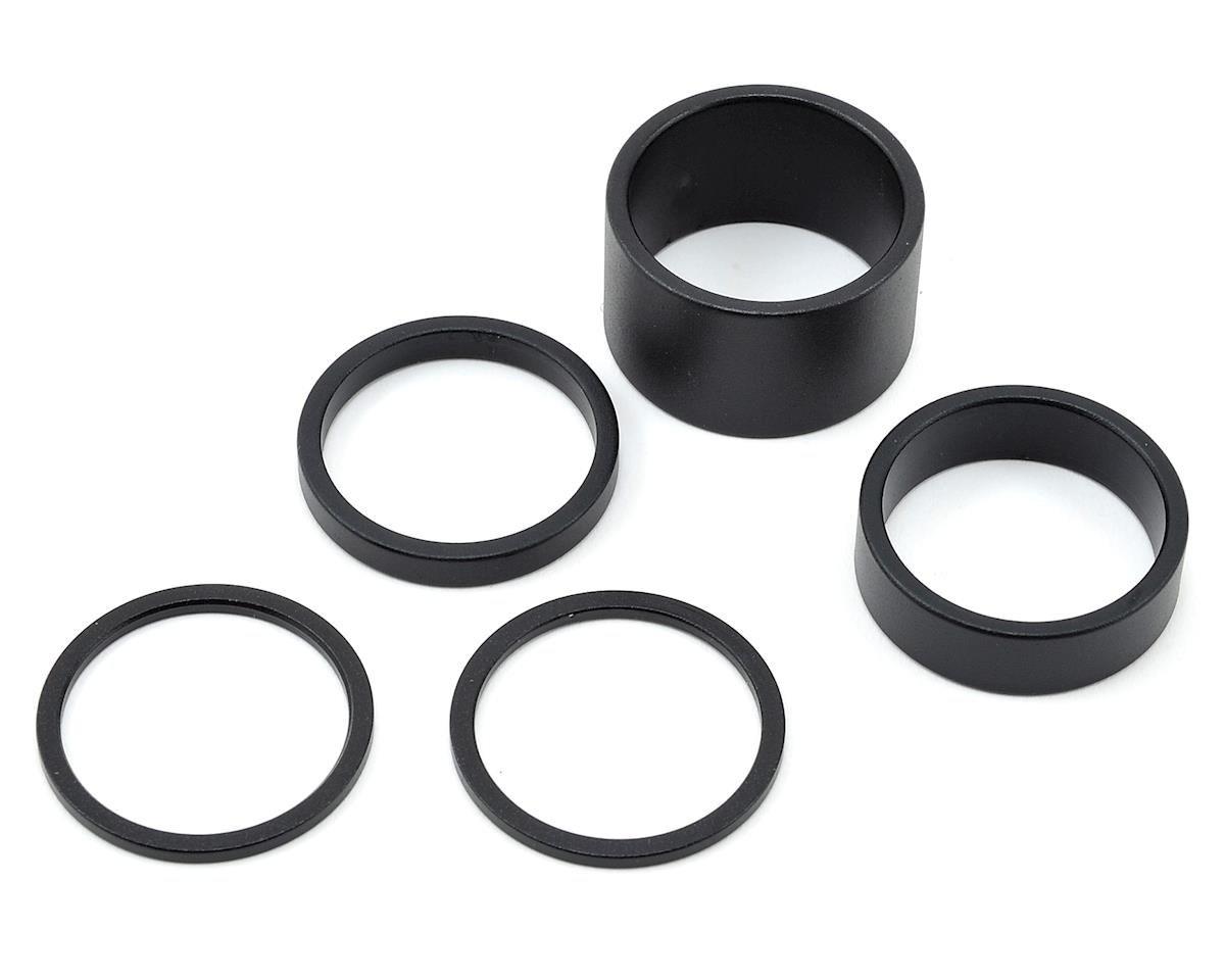 Shimano Pro Headset Spacer Aluminum Black 1-1/8 Set-1
