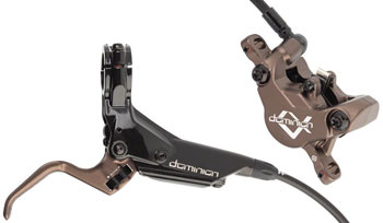 Hayes Dominion A2 SFL Disc Brake and Lever - Front, Hydraulic, Post Mount, Black/Bronze-1