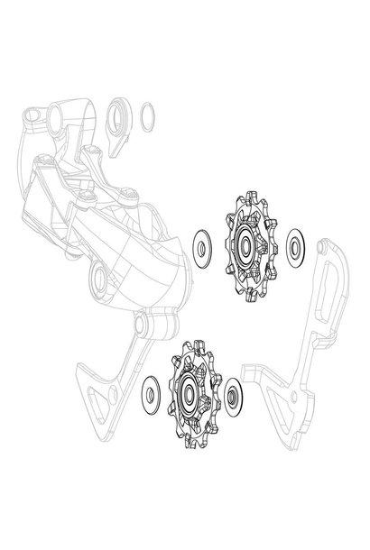 Sram, X01/DH X-Sync, Derailleur pulleys, Pair