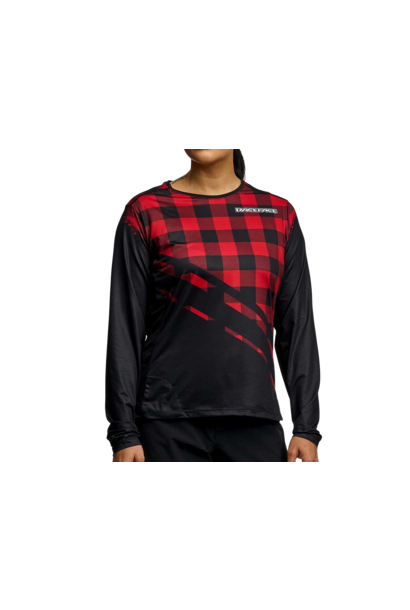 RaceFace Diffuse Long Sleeve Jersey Rouge - Women's