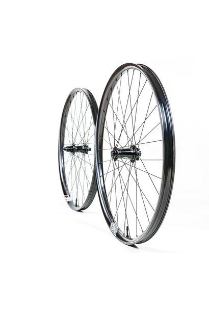 WR1 Wheelset (Faction 29, Industry 9 Hydra, Black, Boost 110 x 15, Superboost/DH 157 x 12, XD, 6 bolt, Black Sapim Race, Black)