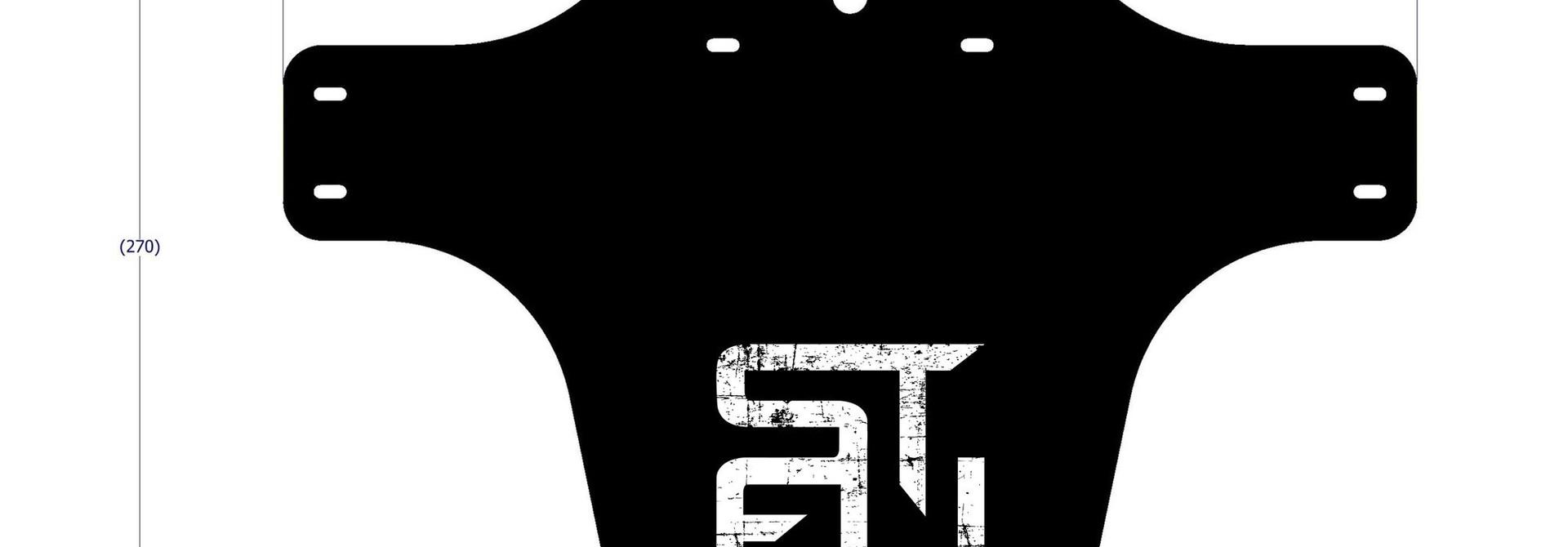 STFU Fender Gunk Guard Square Logo Black/White