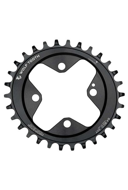 Wolf Tooth, Elliptical, Chainring, 30T, 9-12sp, BCD: 64, 7075-T6 Aluminum, Black