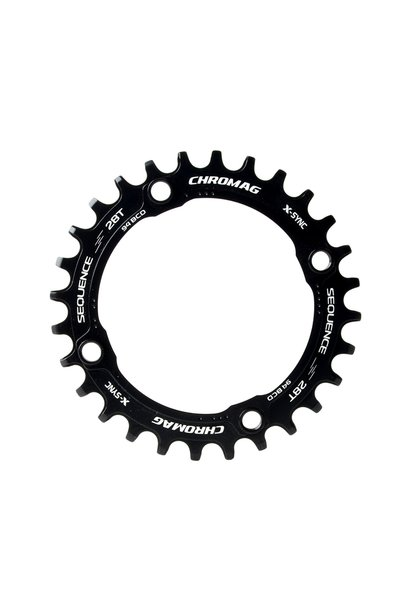 Chromag Sequence 94 BCD 30T Chainring Black