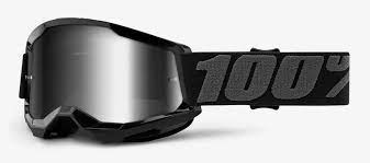 100% Strata2 Jr. Youth Goggles, Black-2