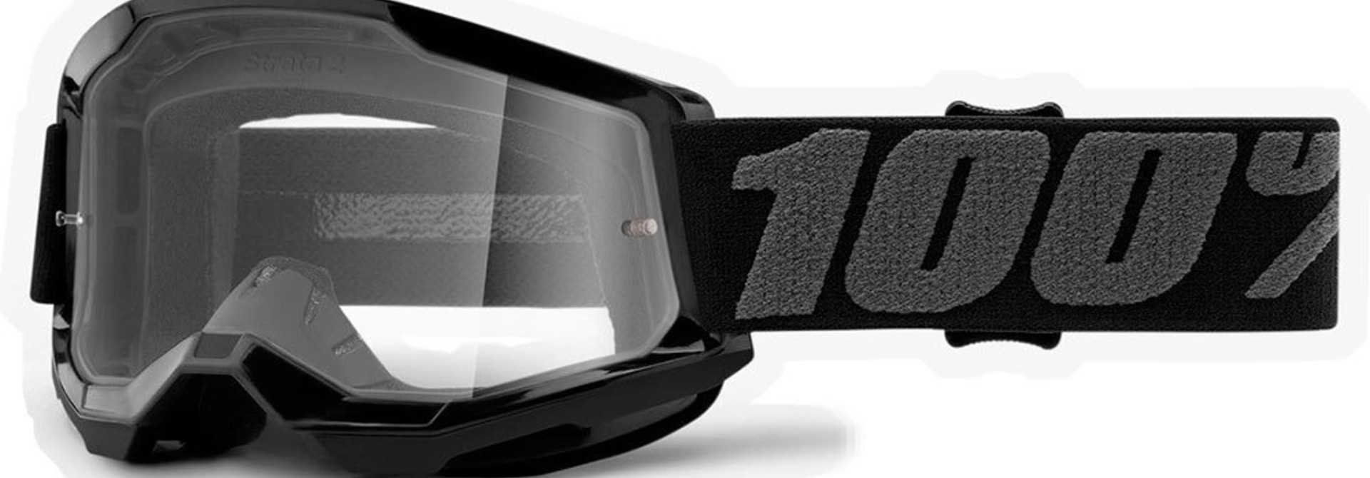100% Strata2 Jr. Youth Goggles, Black