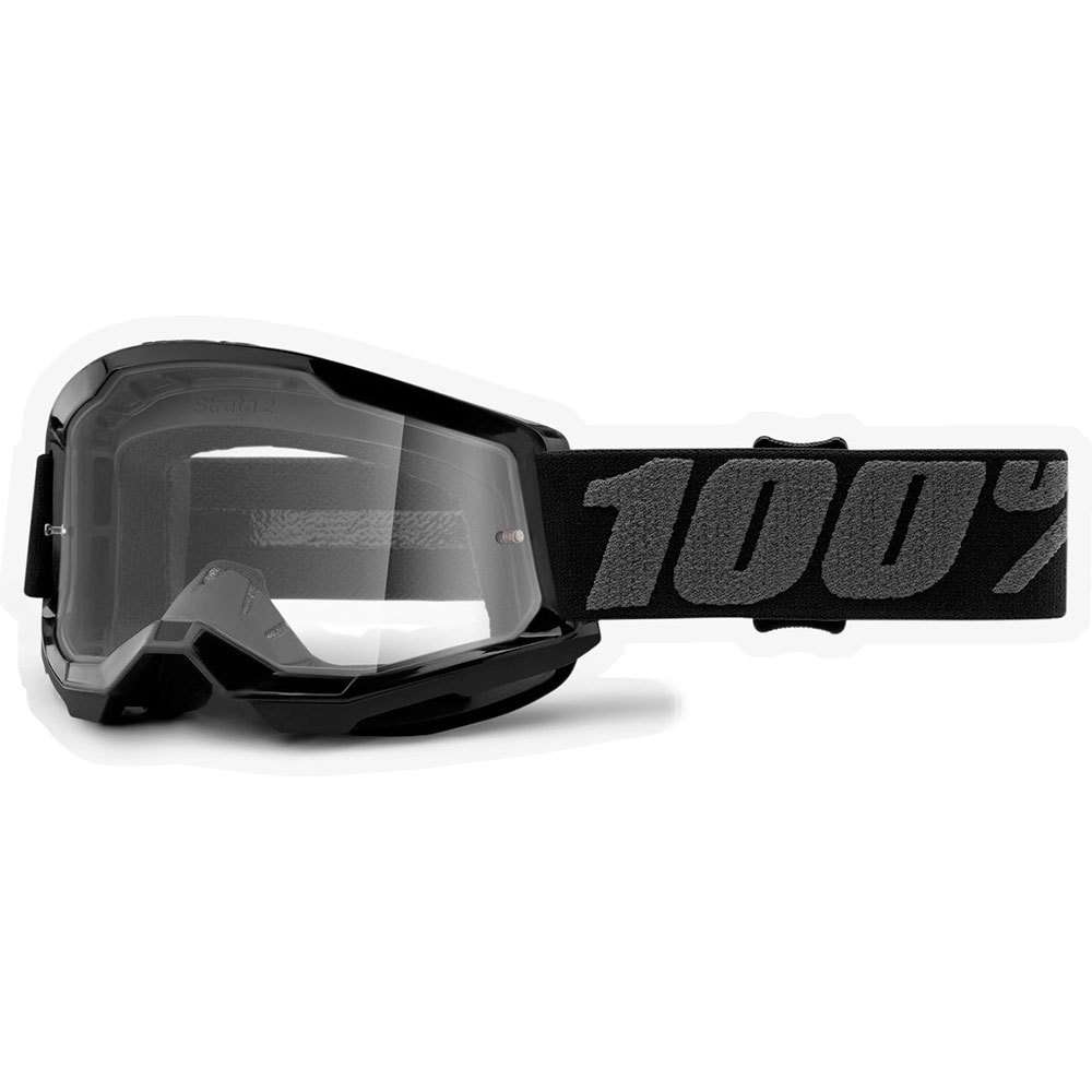 100% Strata2 Jr. Youth Goggles, Black-1