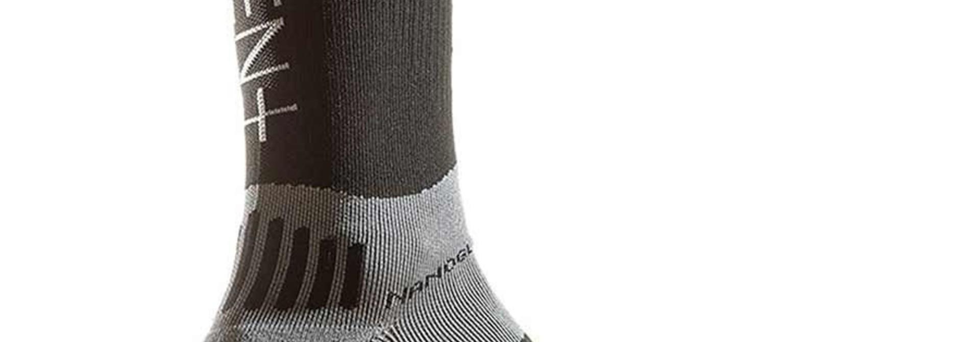 "Dissent, Supercrew Nano 8"", Compression Socks BLACK"